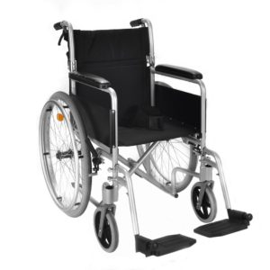 Aluminium self propel wheelchair with brakes ECSP04 1