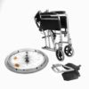 Aluminium self propel wheelchair with brakes ECSP04 8