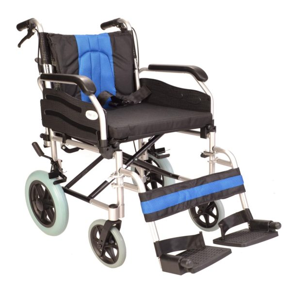 Deluxe attendant wide wheelchair ECTR02-20