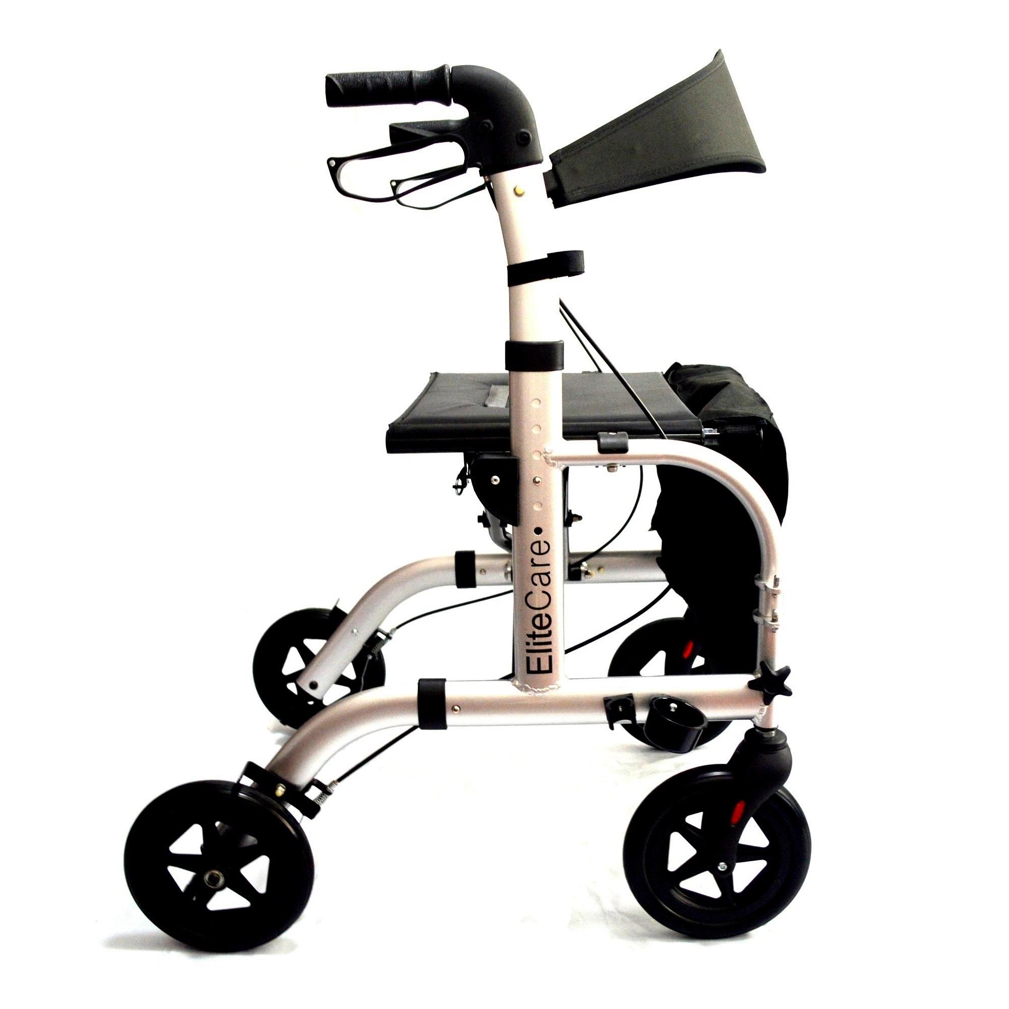 Hybrid 2 In 1 Rollator Transport Wheelchair Elite Care