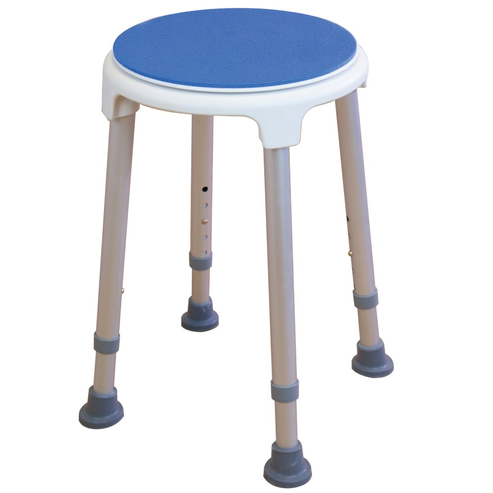 Rotating bath / shower stool with swivel seat - Adjustable height ...