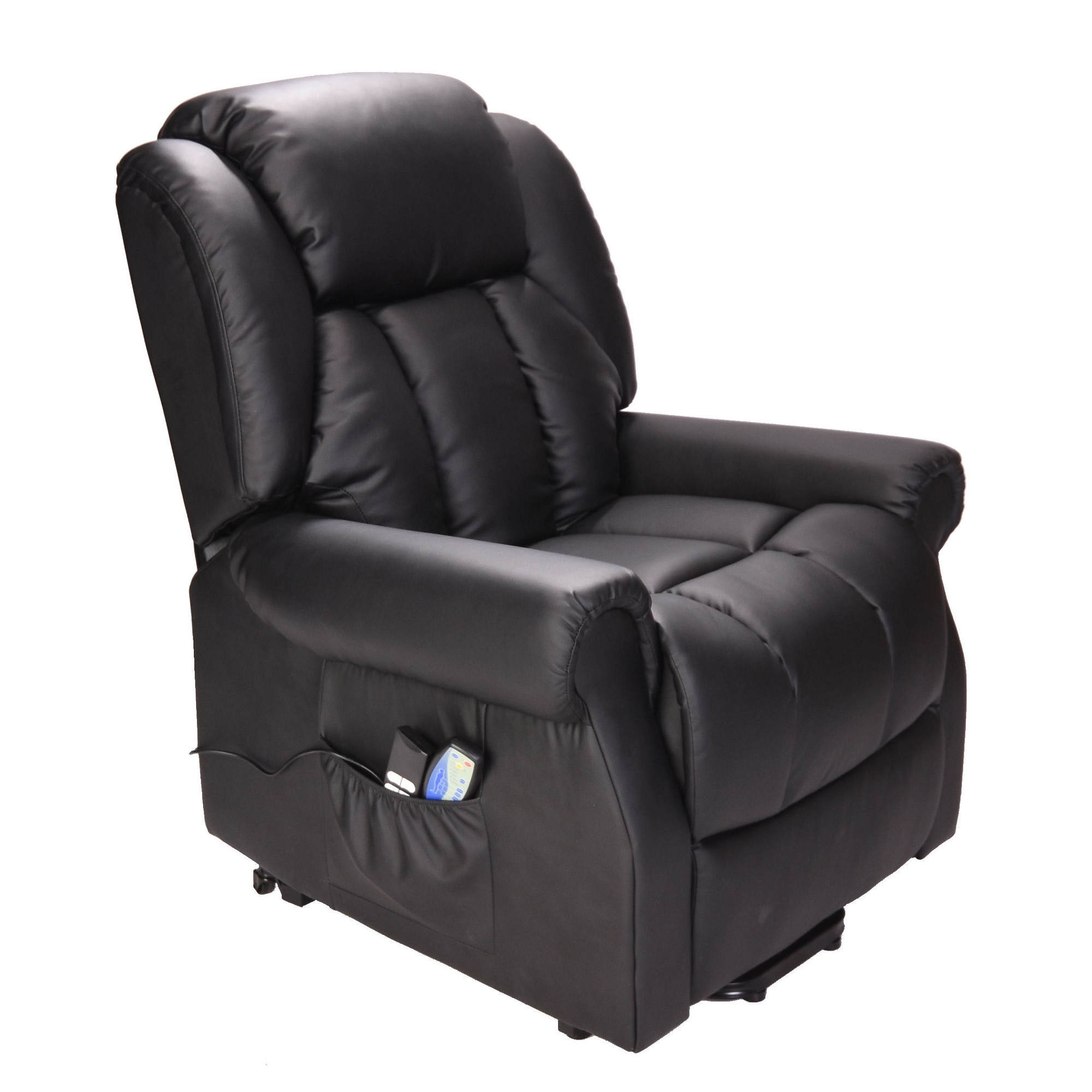 Great Hainworth Dual Motor Rise And Recliner Chair Black