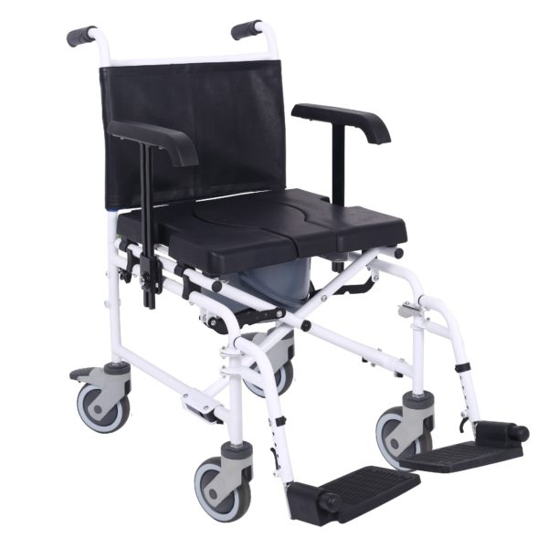 Attendant controlled wheeled shower commode chair 1