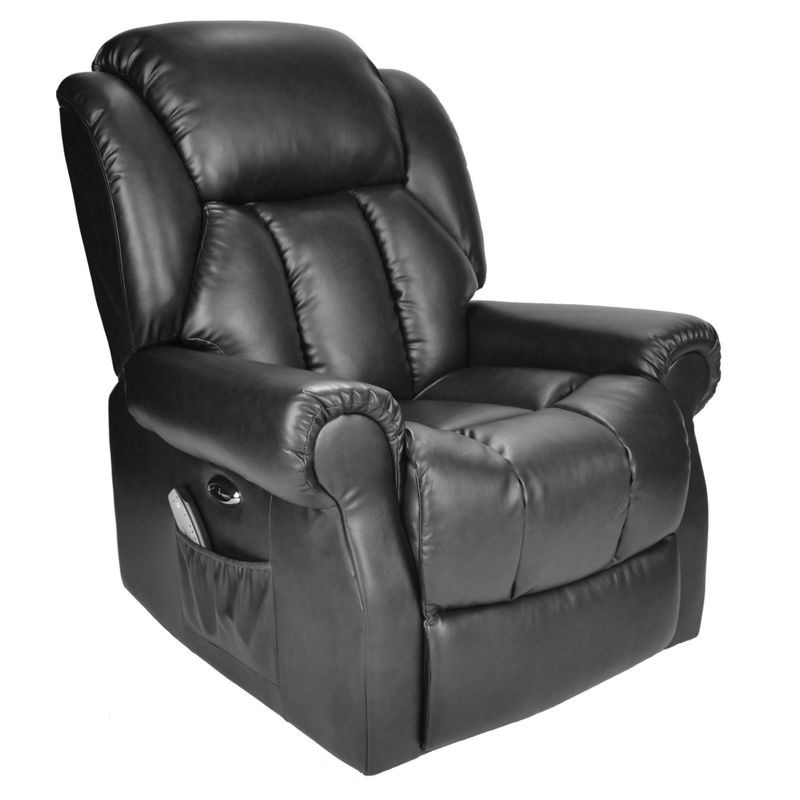 Hainworth Electric Recliner Black 1 3 Riser Chair