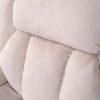 Hainworth riser recliner chair beige fabric backrest